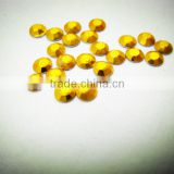 crystal Octagon China quality Aluminum Gold 3mm Rhinestud Hot Fix Octagon