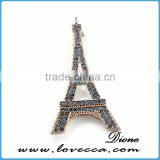 Tower design rhinestone brooch jewelry,korean wholesale rhinestone brooch ,top quality shine brooch