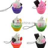 Cool Charming Mobile Phone Pendant,EVA Charm Promo Gift Cake Pendant for Decoration