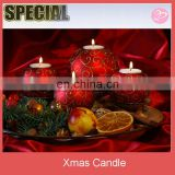 Red ball candle Christmas ornaments