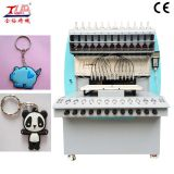 High quality 12 color Automatic 3D soft PVC rubber keychain making machine