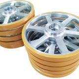 PU friction drive wheel, polyurethane wheels, automotive assembly line parts,polyurethane coated wheel