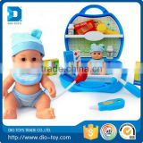 Wholse plastic childrens toy doctor set with doll