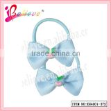 Chinese manufacturer wholesale grosgrain ribbon bow band plastic hair scrunchies with apple (XH4001-372)