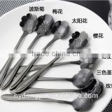 high quality stainless steel coffee spoon /llg gold plate rose stainless steel spoon tea spoon /fancy dinnerware tableware