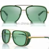 Mens Square Tony Stark Iron Men Sunglasses Retro Transparent Lens AS020