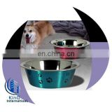 Anti Skid Pet Bowls/stainless steel dog bowl