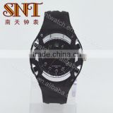 Hot sale plastic <b>watch</b> with <b>black</b> <b>strap</b>