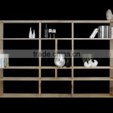 Nice attractive design bamboo bookshelf with magazine holder