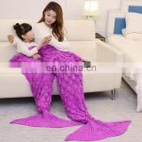 Classic style winter warm family mermaid tail blanket