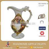 19 Inch Resin Beautiful Home Decor Antique Decoration Vase Flower