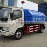 chengli factory sale 3m3 to 4m3 hook type small garbage trucks