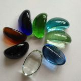 decorative glass beads, shape glass beads, cashew glass beads