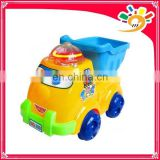 Cute Pull Line Cartoon Truck Toy,Plastic Cartoon Truck With Light