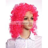 MPW-0506 festival club party theme hot pink afro wig for halloween carnival