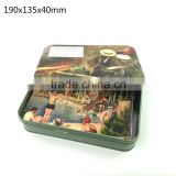 190x135x40mm,Cute rectangular tin box for cards,card tin container