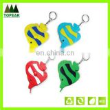 Fish shape measuring tape with keychain