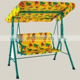 Durable steel folding swing chair