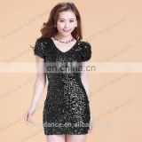 BestDance sequin party evening dresses wear sexy tight club dance dresses wear for women OEM