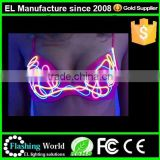 wholesale customized shinning light up adult girls sexy transparent lingerie