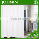 hot sales no printing customized waterproof hook white shower curtain