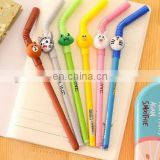 Korean students stationery supplies Cute cartoon sucker gel pen writing pen black ink creative