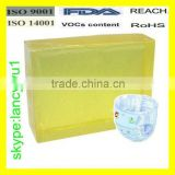 Supply high quality hot melt adhesive block for baby diaper