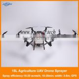 High tech Joyance Intelligent flying drone sprayer 15kg agricultural uav drone crop sprayer