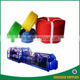 China mainland new technology climbing coir jute sisal plastic dual rope stranding making machinery for mooring braided rope