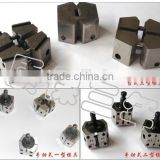 Cold welding mould / press welder dies / welding dies used in welding copper wire, aluminum wire