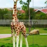 2017 wholesale artificial man-made giraffe for garden ornament
