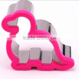 Customized dino shape stainless steel cookie cutters
