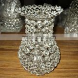 Crystal Center Piece Vase,Crystal Flower Vase,Designer Crystal Flower Vases,Crystal Flower Vases For Home Decoration,Beaded Vase