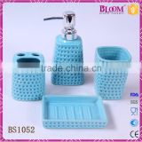 Simple design 4 pcs ceramic hotel bathroom set