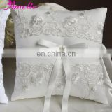 Embroidery Lace Ivory Ring Bearer Pillow