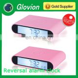 Glovion funny alarm clocks cute alarm clock Reversal kids digital clock