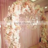 Decorative arch fake wedding blossom flower arch for indoor