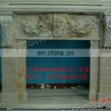 beige carving marble fireplace picture