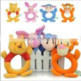 Baby wrist toys plush teddy bear rattle toys plush infant toys