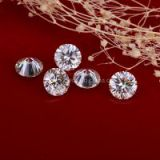 8.0mm round shape EF VVS white moissanite loose stones