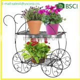 Two Tiered Garden Cart iron flower pot stand