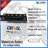 12V 7Ah lead acid Motorcycle Battery