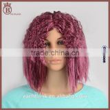 Wholesale Female Synthetic Long Short Fluffy Purple Cosplay Party Wig