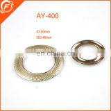 fancy round metal buckle trims for bags garments furniture