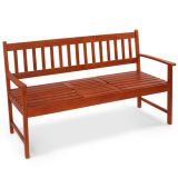 wooden garden bench with flexiable small table