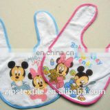 100% Cotton Eco-friendly baby Bib accept customization