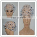 Disposable printing PE bathing cap/ plastic shower cover