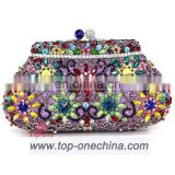 Colorful wedding clutch bag/evening bag/rehinestone purse evening clutch bag/crystal purse clutch bag