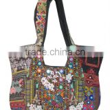Beautifully hand embroidered, patchwork and embellished vintage fabric banjara bags