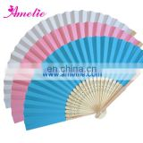 AF1405 Light colors paper wedding hand fans